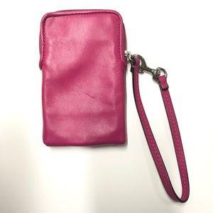 Coach Bags - COACH pink wristlet